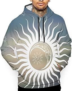 Unisex Sun and Moon Hoodies Casual Pullover Hood Jackets Sweatshirt