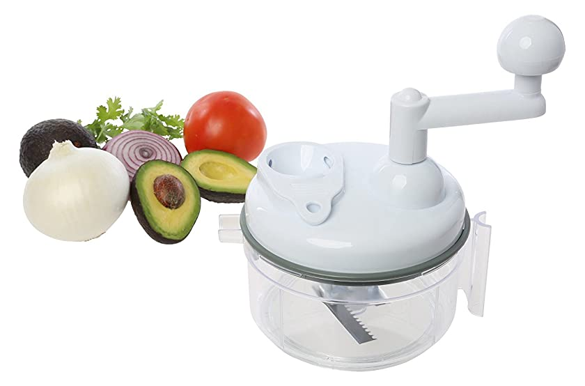 OKSLO Salsa maker, food chopper, mixer and blender - manual food processor (sc-105w)
