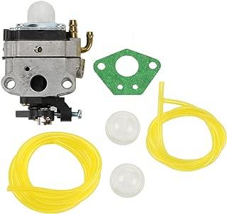 Buckbock Carburetor with Fuel Line for Troy-Bilt Murray Craftsman TB2BP TB2BVEC RM2BP YM2BP 753-06442