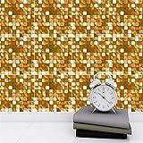 DHHY Stickers Muraux Mosaïque Minimaliste Moderne Salon Chambre Cuisine Décoration Murale Autocollants Escaliers Autocollants 10 Pièces