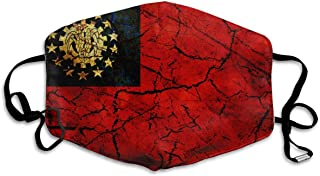 Vintage Myanmar Flag Mouth Mask Unisex Anti-dust Cotton Face Mask for Men and Women, Boys and Girls
