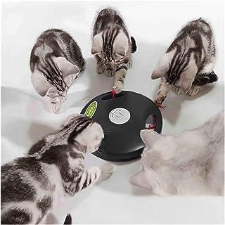Yvelife Interaktiv robot kattleksak, hängande elektrisk dold rörelse katt mus svans leksak, andra generationen (svart)