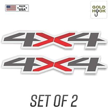 4x4 Thin Blue Line 2 Pack Decal vinyl sticker Chevy Silverado GMC Sierra truck