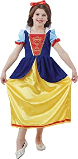 Childrens Snow White Costume Girls Classic Princess & Dwarves Dress - X-Large