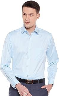 Lamode Men's Solid Light Blue Formal Shirt962