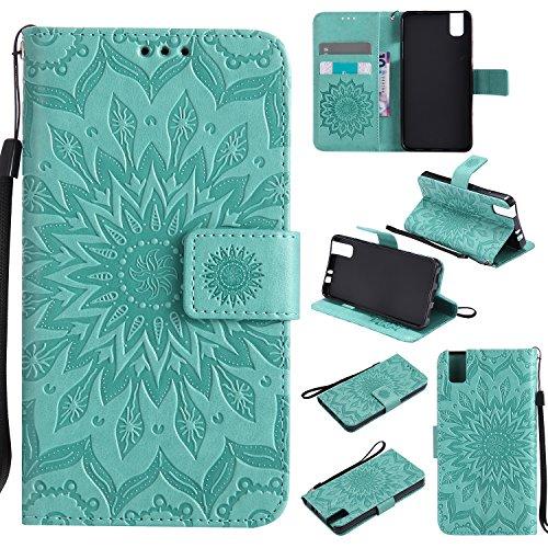 YYhin Custodia per Cover Huawei ShotX/Honor 7i-Custodia Rimovibile per Borsa Magnetica Rimovibile Case Cover(Verde)