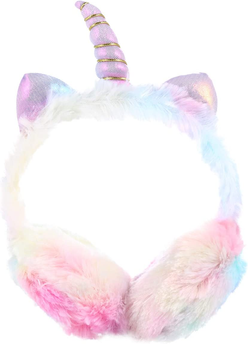 Atlanta Mall gift PRETYZOOM Lovely Unicorn Earmuff Children Warm E