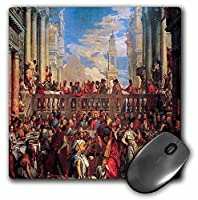 3drose The Wedding Feast at Cana by VERONESE – マウスパッド、8 × 8インチ( MP _ 130048 _ 1 )