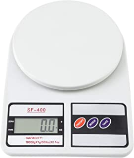 SF-400 10KG / 1g Kitchen Digital Scale and Food Scale, Lightweight and Durable Design, LCD Digital Display, White