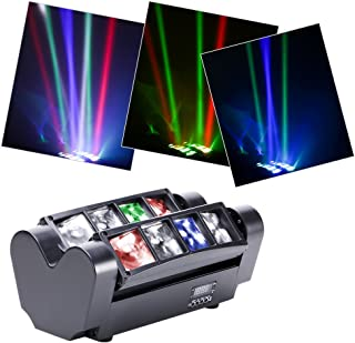 U`King Moving Head Spider Licht Discolicht Partylicht RGBW 8X10W LED Lampe für Bar Weihnachten Party