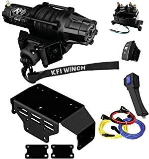 KFI Combo Kit - AS-50w Assault Wide Winch Mount Bracket, Wiring, Switches, Remote Kit - compatible with 2015-2018 Honda SXS500 Pioneer 500 UTV