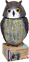 Defenders Wind-Action Owl, (Life-like Decoy Deterrent, Scares Birds From Gardens)