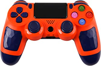 ZFY Z01 PS4 Controller Wireless Bluetooth Gaming Controller PS4 Double Vibration Game Controller with Touch Pad High-Precison Joystick for Playstation 4 - Orange