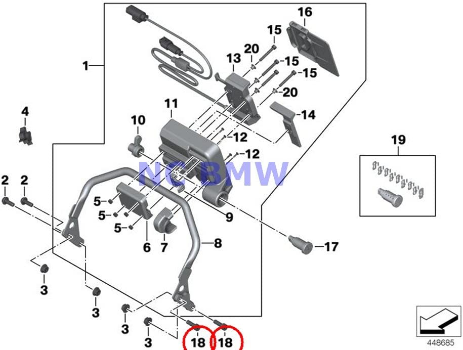 BMW Genuine price Motorcycle Fillister-Head Screw Arlington Mall M6X18-10.9-ZNS3 A40