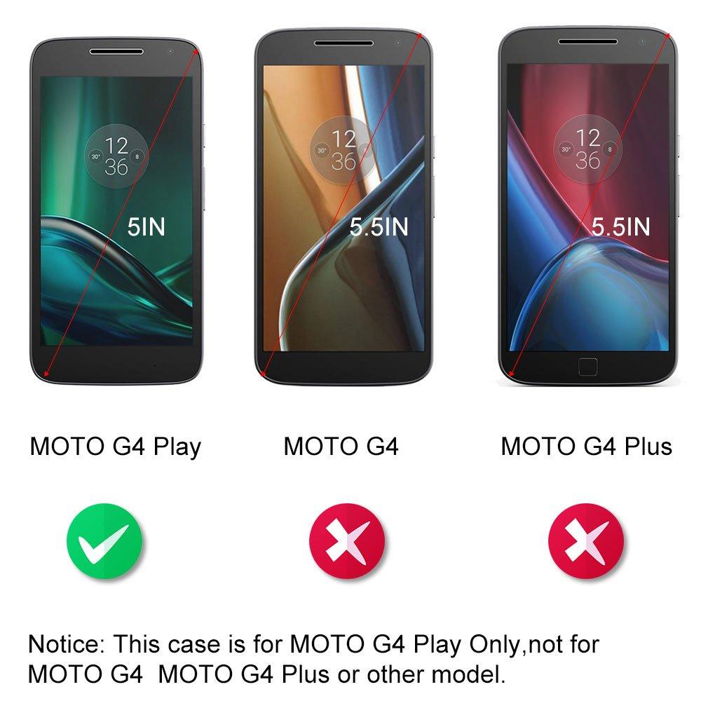 Dooki - Funda para Moto G4 Play, de piel y PU, giratoria, con ...
