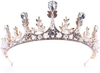 FELICILII Accessori Corona Diadema di Cristallo Grano Copricapo Testa Sposa Sposa Copricapo Corona Fascia Festa di Compleanno