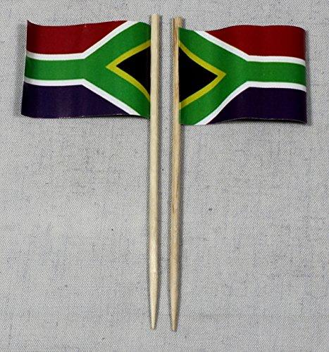 Buddel-Bini Party-Picker Flagge Südafrika Papierfähnchen in Profiqualität 50 Stück 8 cm Offsetdruck Riesenauswahl aus eigener Herstellung