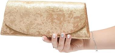 Vain Secrets Damen Abendtasche Clutch in Barock Samt