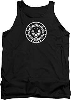 Battlestar Galactica GOLD SQUADRON PATCH Licensed Adult Tank Top All Sizes