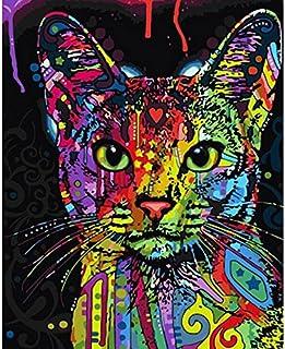 Pintar por Numeros Tigre animal y f/útbol DIY pintura al /óleo para adultos ni/ños Kit Digital pintura al /óleo 16 x 20 pulgadas sin Marco hp322l