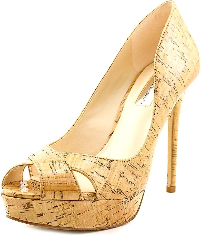 INC International Concepts Womens Vernaa Peep Toe Classic, Natural, Size 7.5