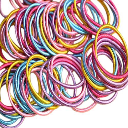 Demarkt Cheveux Cravate Petit Accessoires Cheveux Filles Coloré Couleur Mixte 100PCS