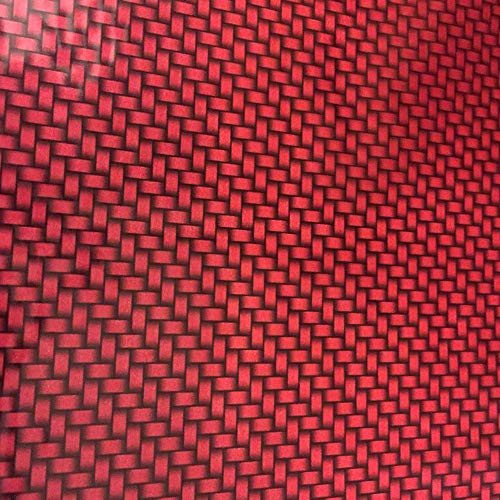 Hydrographics Film - Hydro Dip Film - Hydrographic Film - Water Transfer Printing - Hydro Dipping - Candy Apple Red Carbon Fiber - 1 Sq. Meter