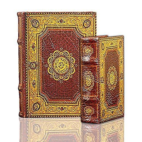 Enchanted World of Boxes Hypnotizing Elegants – Marquiz Arabo Design Classico Arabo Libro Segreto Set Decorato con Fiori mediorientali