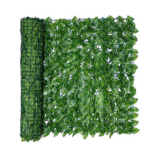 Artificiale Siepe Finta,Siepe Artificiale Ivy Leaf Garden Fence Roll Green Wall Balcony Privacy Screening,per Arredo Esterni Recinzioni Balcone Recinzione Giardino Decorazioni