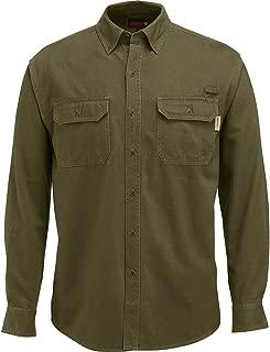 WOLVERINE Men's Fletcher Soft and Rugged Twill Long Sleeve Shirt