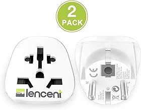 LENCENT 2x Adaptador Enchufe UK/Ingles/Reino Unido/US/
