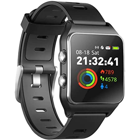 Smart WatchSleep//Pedometer Fitness Tracker with Multi-Sports Mode Message Notifications Color Touch Screen Smartwatch for Android and iOS DR.VIVA Running Watch