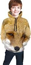 Teen Boys Girls 3D Print Fox Tales 1920 Pullover Hoodies Hooded Sweatshirts Tops Blouse with Pocket