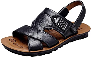 Men's Open Toe Casual Leather Comfort Shoes Sandals Large Size 6-14