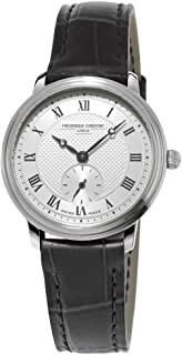 Frederique Constant Women's FC235M1S6 Slim Line Analog Display Swiss Quartz Black Watch