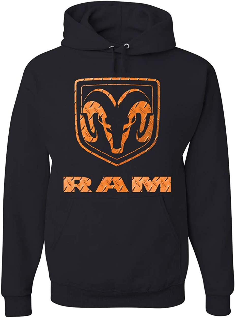 Orange RAM Logo Hoodie HEMI Portland Mall Pickup We OFFer at cheap prices Ram Guts Glory Truck