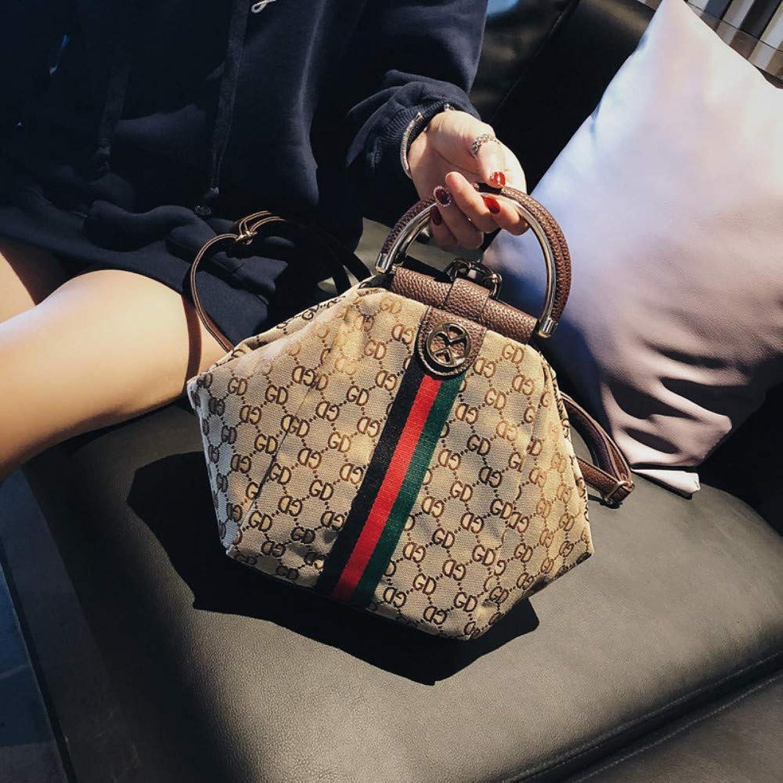 MSFANGDAN Umhngetasche Frauen Fashion Stripe Handtasche Crossbody-Tasche Damen Freizeit Messenger Bags Weiblichen Einfache Vintage Drucken Multifunction Reise Rucksack