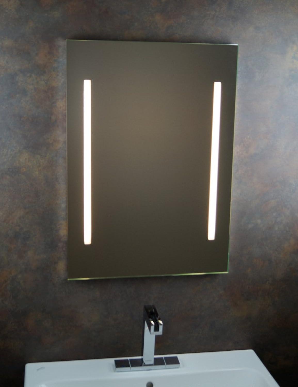 Badspiegel   Badezimmerspiegel   Leuchtspiegel   Lichtspiegel   Spiegel   50 x 70cm   inkl. Seitenschalten    James