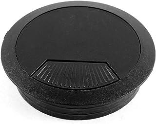 Aexit الكمبيوتر (الأجهزة المنزلية) سطح المكتب البلاستيك جولة سلك ثقب كابل حلقة معدنية (64ry175qf128) غطاء أسود
