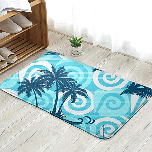 X Large Exotic Tropical Landscape Palms Tree Nature Personalized Custom Doormats Indoor Outdoor Doormat Door Mats Non Slip Rubber Kitchen Rugs 23 6 X 15 8 Inch