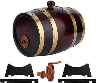 Tonneau de Vin Chêne Vintage de 1,5 L, Distributeur Baril Vieillissement en Bois Seau Whisky Accessoires Brassage à Domici...