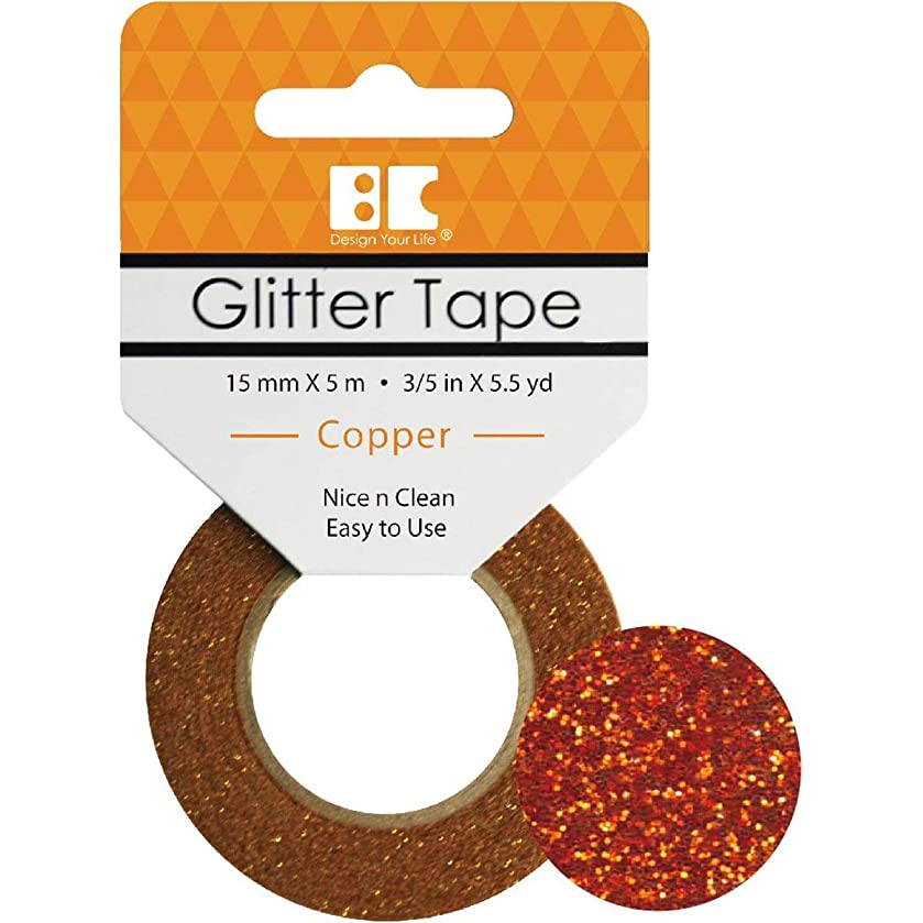 Best Creation Glitter Tape, 15mm by 5m, Copper