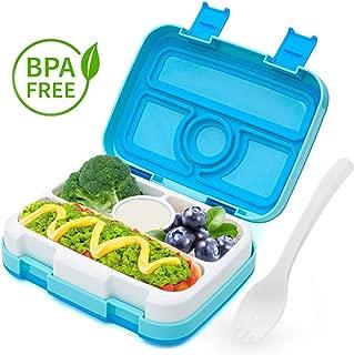 Fiambrera con 3 Compartimientos Lunch Box Cuchara Tenedor Lonchera Bento Box Sostenible Beige LAKIND Fambrera Infantil para Microondas y Lavavajillas.