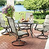 Statesville 5-Piece Padded Sling Patio Dining Set with 53 in. Glass Top