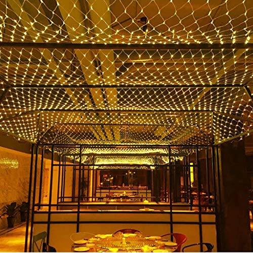 MIAOGO Net Mesh Light,Curtain Light Outdoor String Fairy Strings LED Rain-Proof LED Mesh Lights Christmas Festival Decorations Party Gazebo (Size : 8 * 10m (26.2ft x 32.8ft))