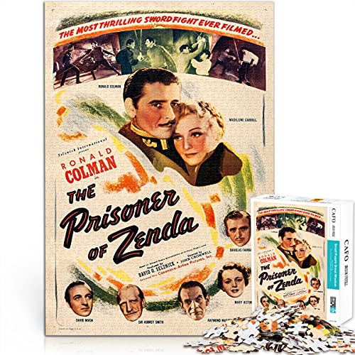 prigioniero di zenda ver2 Puzzle del film classico Serie di film classici Mini 1000 pezzi di carta 38x26cm Puzzle artistico della collezione di poster classici