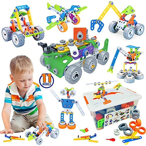 Gxi STEM Activities Building Toys for Kids -175 PCS Building Blocks...