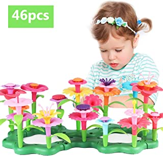 CENOVE Little Girls Toys for 3 4 5 6 7 Year Olds Girls Gifts Flower Garden Building Toy Set Stem Toys Build a Bouquet Floral Arrangement Playset Educational Toys
