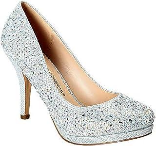 MVE Shoes Womens Stylish Sparkle Closed Toe Ankle Strap...