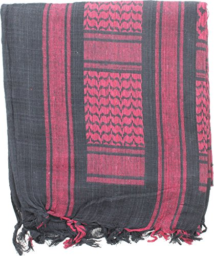 ARMYU Military Shemagh Arab Tactical Desert Keffiyeh Scarf, 100% Cotton Lightweight Head Wrap Cover (SOLID - Olive)